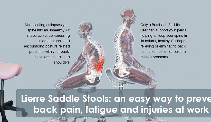 Saddle Stools: an easy way to prevent back pain, fatigue and injuries at work