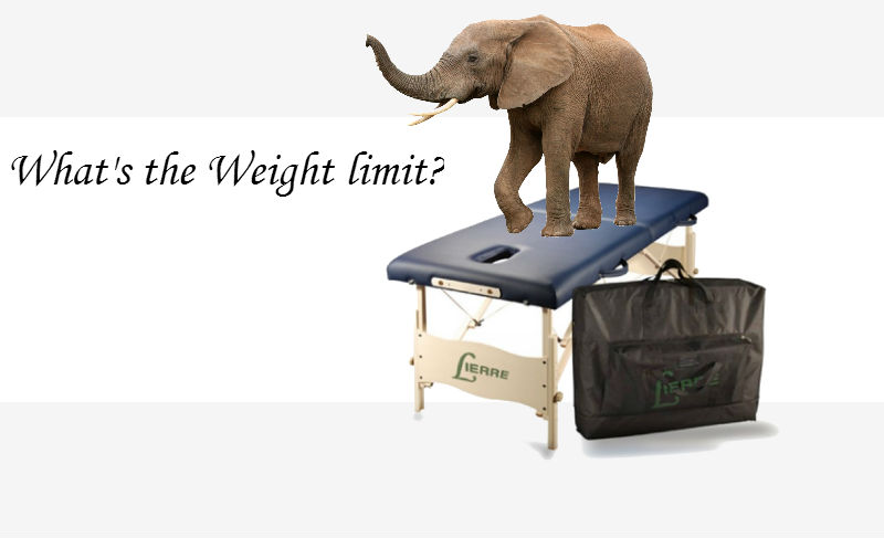 What is the weight capacity of a massage table?