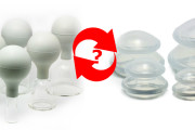 What is the alternative of glass cups for cupping therapies?
