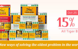 15% on all Tiger Balm Products