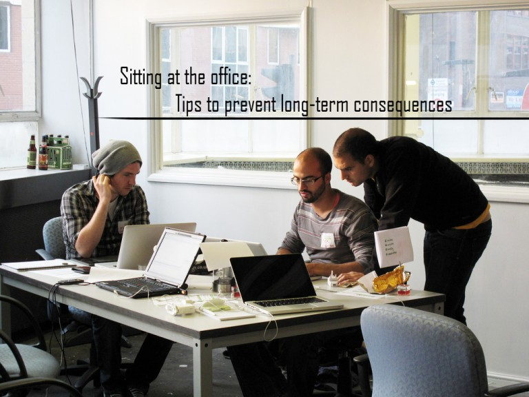 Sitting at the office: tips to prevent long-term consequences