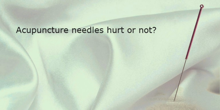 Do Acupuncture needles cause pain?