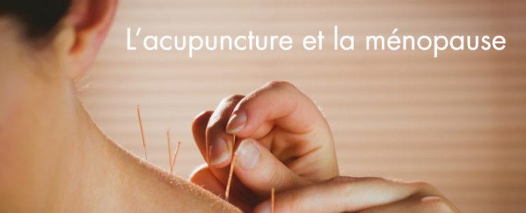 L'acupuncture et la ménopause