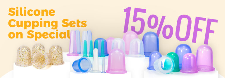 15% OFF on our Silicone Cupping Sets