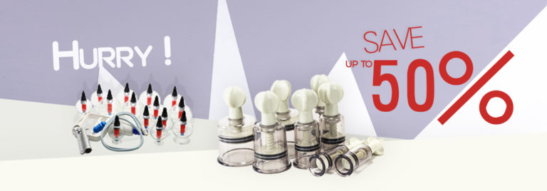 50 OFF on 3 plastic cupping sets only this week!