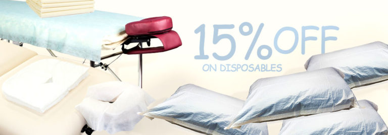 15% OFF on everything disposable!