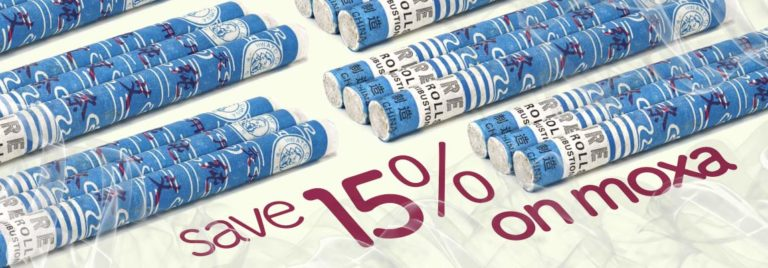 15% OFF on all Moxa Rolls !